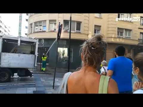 Trabajadores de la limpieza ejercen de Bomberos