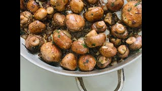 Garlic Mushrooms/ thanksgiving side dish