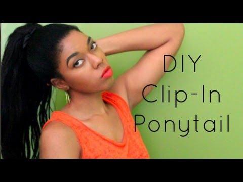 EASY Detachable Ponytail No Bobby Pins YouTube - Diy ponytail wrap
