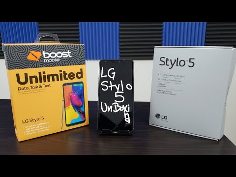 LG Stylo 5 Unboxing And First Boot Up Boost Mobile