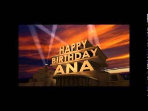happy birthday ana youtube