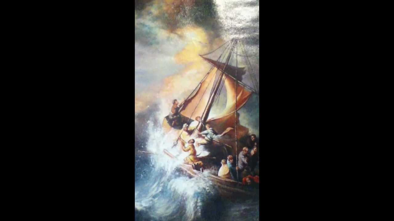 Rembrandt van rijn storm on the sea of galilee 1633 repro oil rembrandt van rijn storm on the sea of galilee 1633 repro oil painting youtube publicscrutiny Images