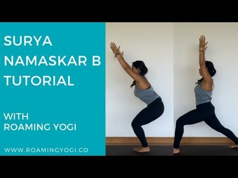 sun salutation b tutorial surya namaskar b  youtube