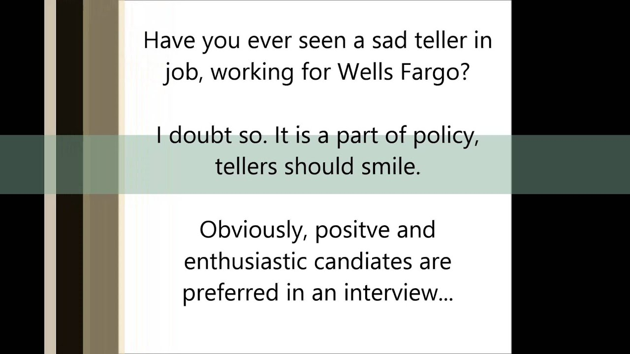 Wells Fargo Interview Tips