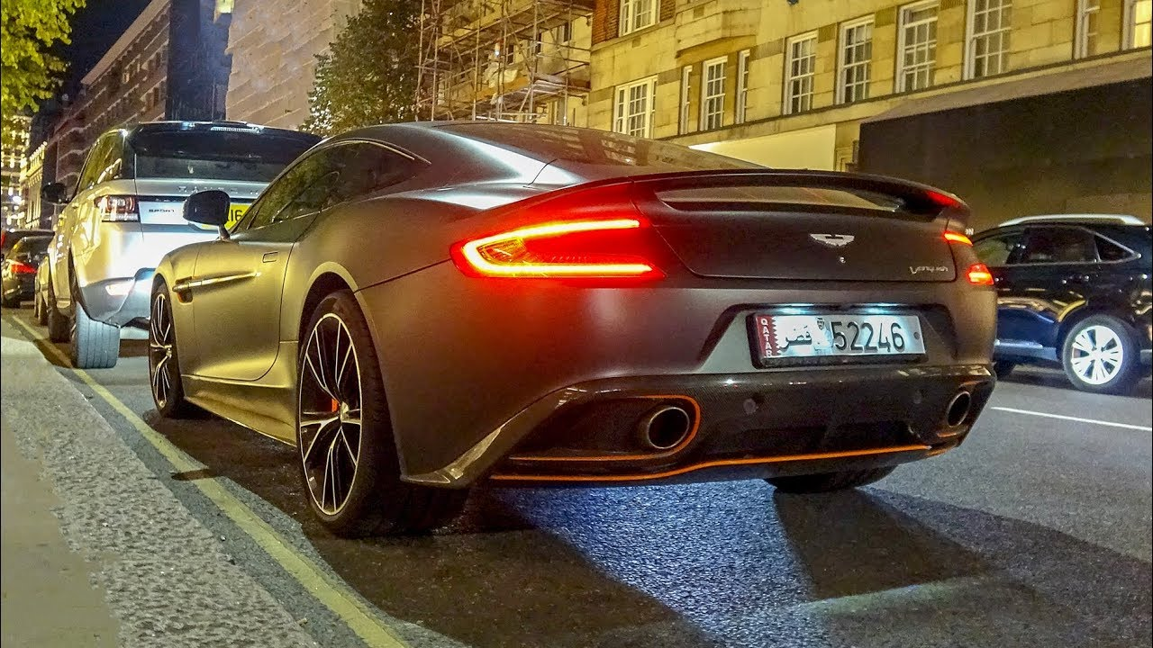 This 2018 Aston Martin Vanquish In London Sounds So Good Youtube