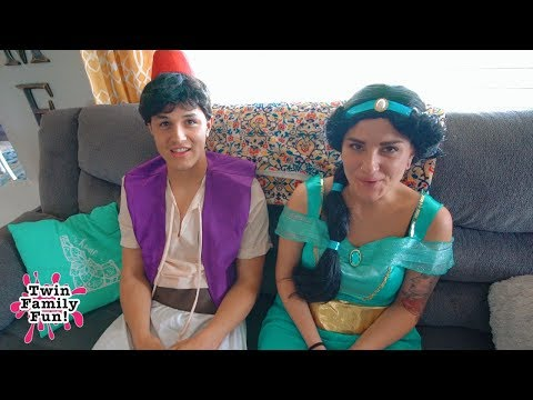 Princess Jasmine, Aladdin, Kate and Lilly bloopers and behind the scenes!