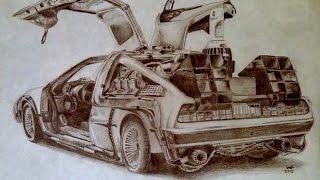 2015 - DeLorean Time Machine Drawing Progression