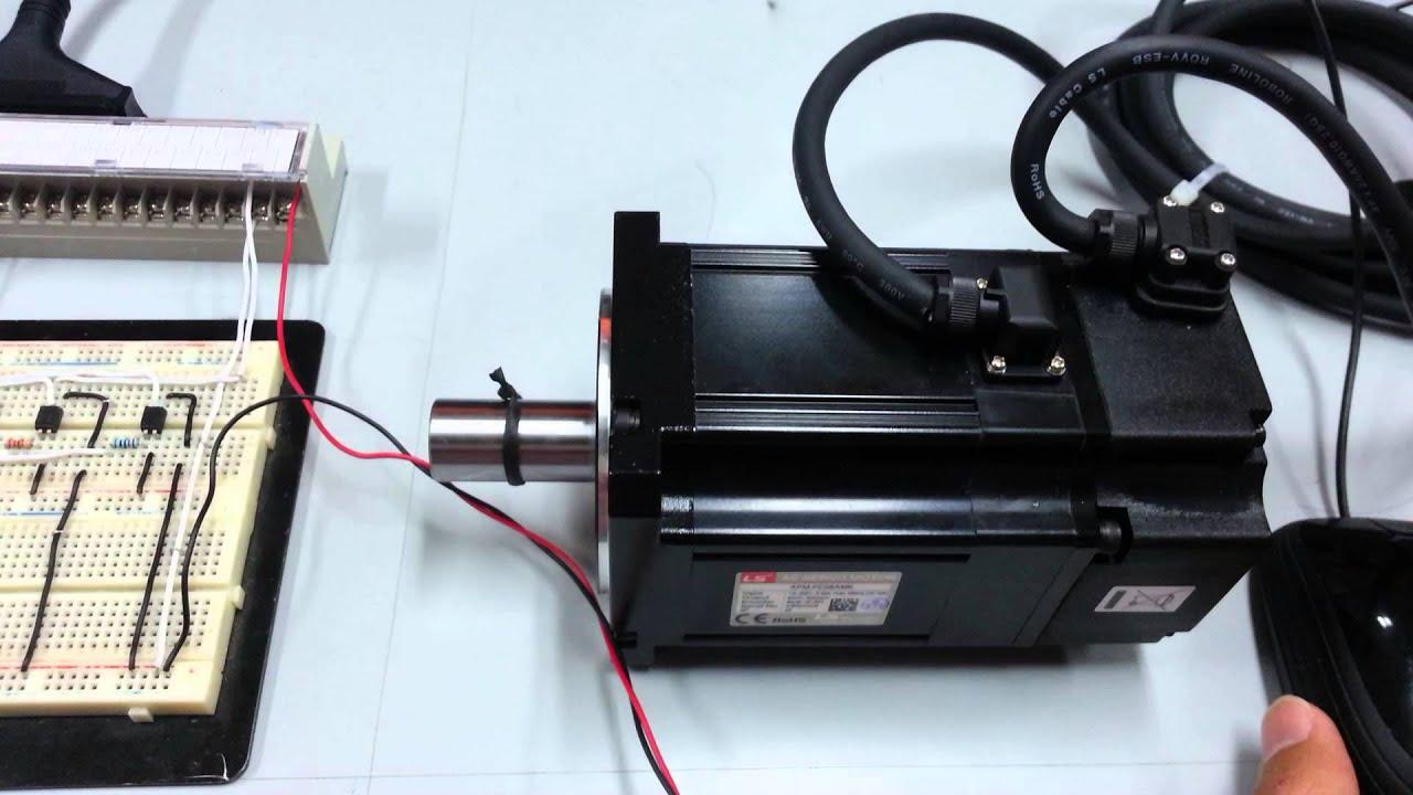 motor ac servo using arduino computer youtube