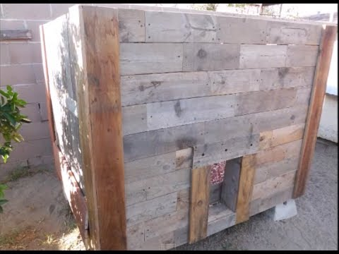 Chicken coop build from wood pallets only youtube for How to build a chicken coop from wooden pallets