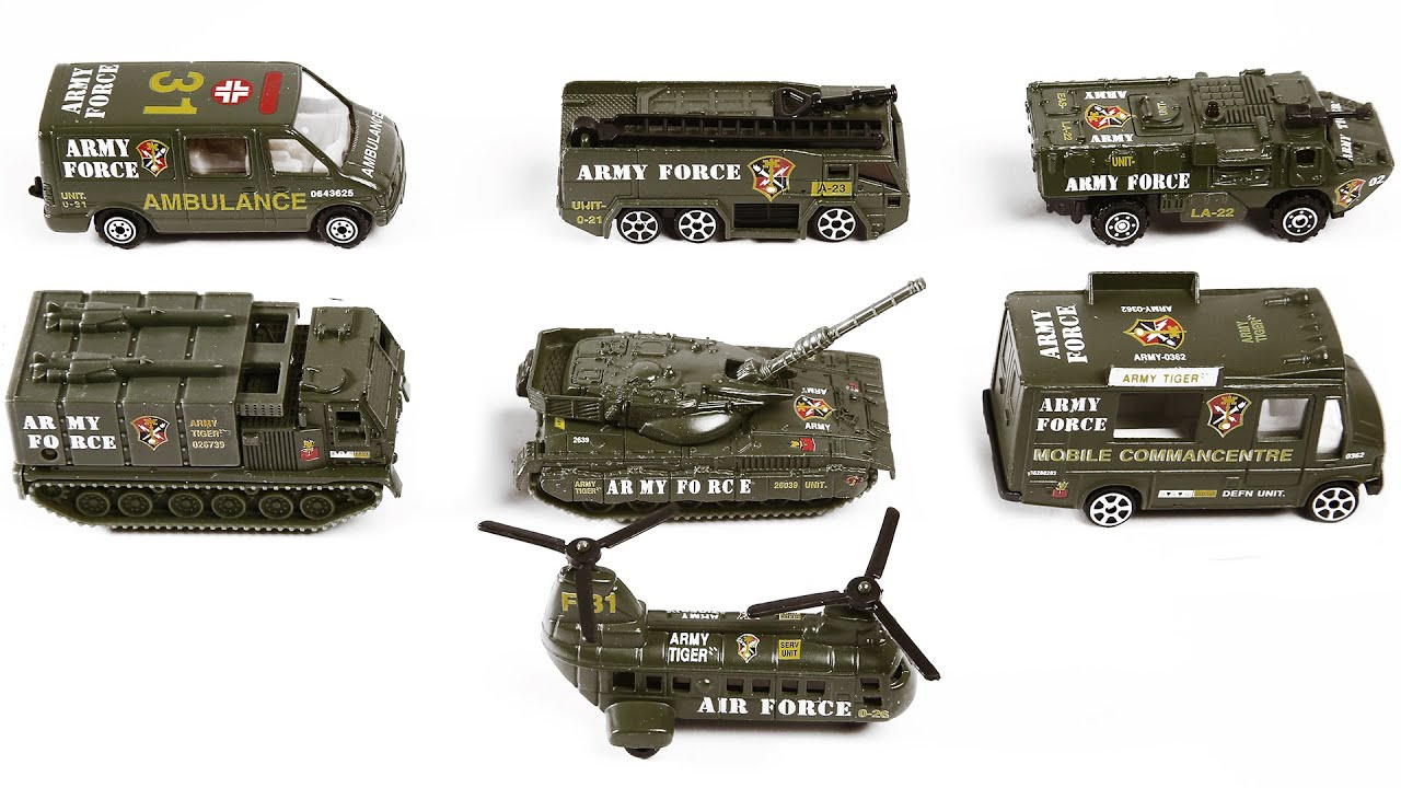 Army Vehicles Street Vehicles For Kids