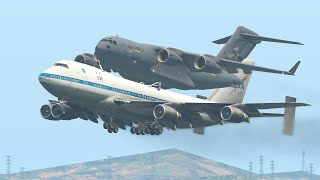 Download lagu C-17 Broken Mid-Air Request Boeing 747 To Carry Back To Airport | X-Plane 11