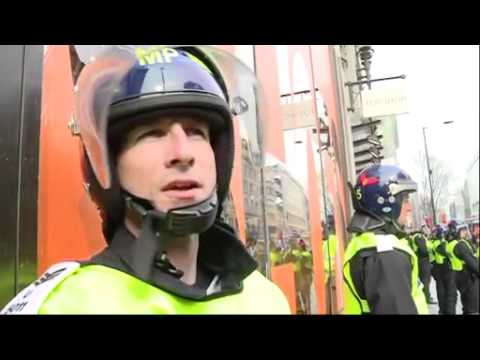 March for the Alternative: behind police lines