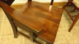 Amish Handcrafted Contemporary Dining Room Chair