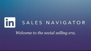 LinkedIn Sales Navigator Training 2015
