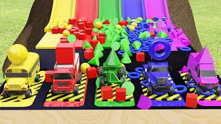 Monster Street Vehicle Toys for Kids Learn Colors Shapes and Numbers with Toys for Kids