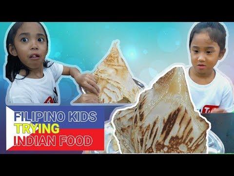 Indian Food   Filipino Kids Trying Food In Malaysia Roti Tisu (Roti Tissue)