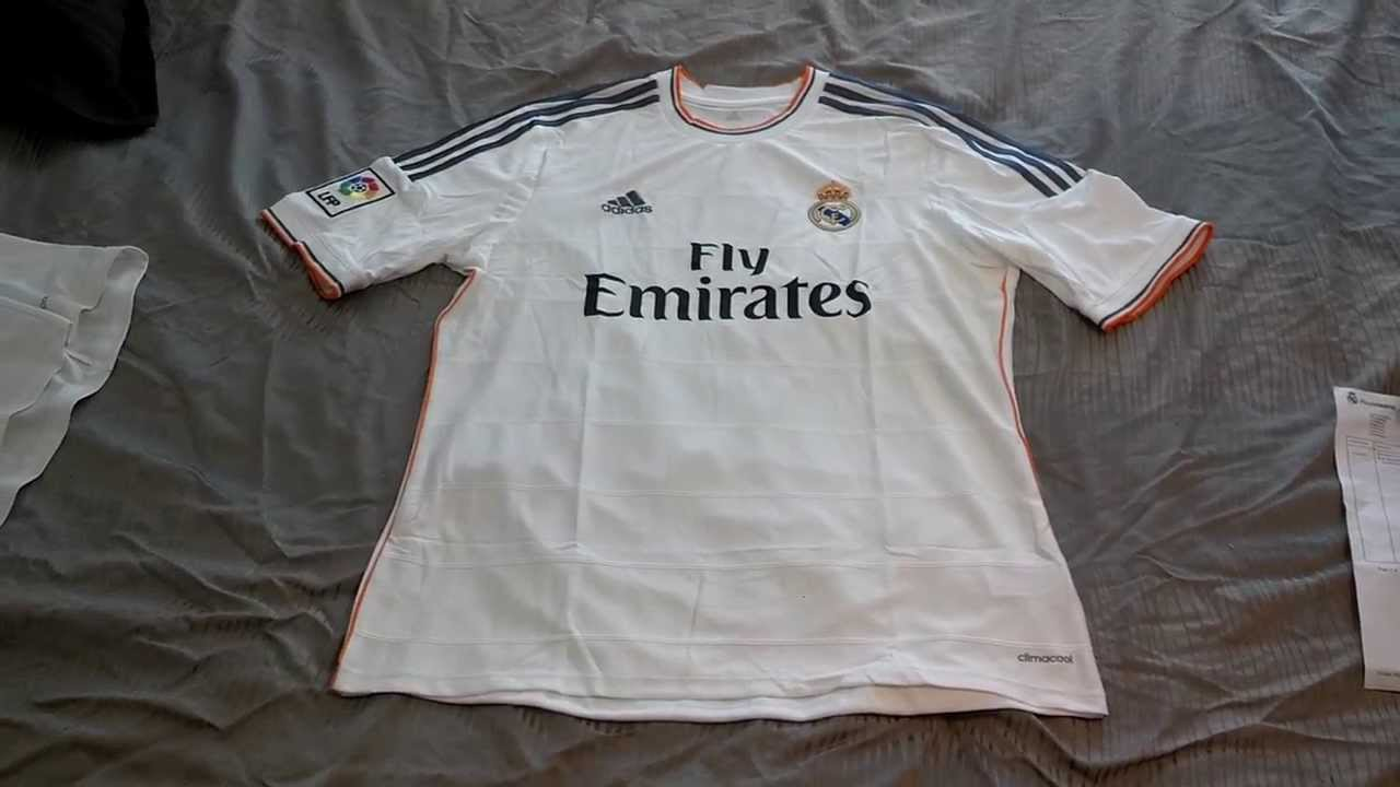 102eaa4fa39 Real Madrid Adidas 2013 14 Ronaldo Home Jersey - YouTube