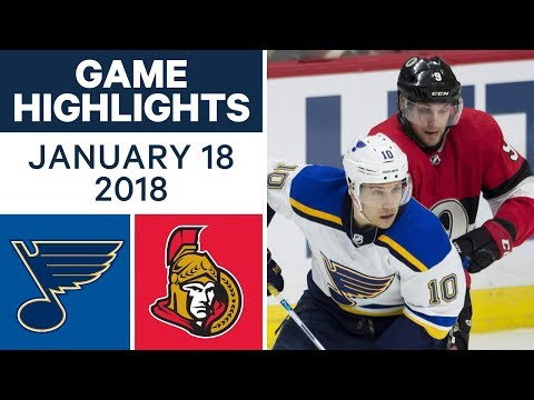 NHL Game Highlights | Blues vs. Senators — Jan. 18, 2018