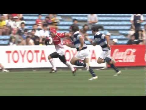 Syou Takenaka super Try : Japan XV vs French Barbarians 2nd Match 2012
