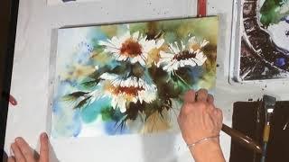 Démonstration de Renée Dion, aquarelliste