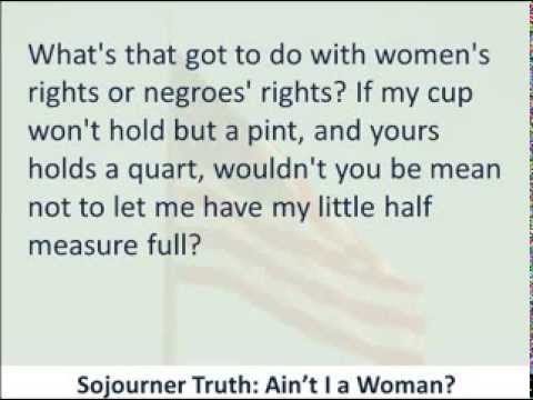 Sojourner truth ain t ia woman summary