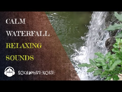 Calm Waterfall for Sleep, Focus & Studying | White Noise Nature Sounds