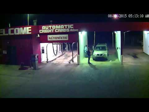 Ridgerunner Car Wash Break In - Surveillance Video