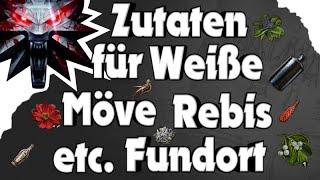 The Witcher 3 - Zutaten für Weiße Möve, Rebis etc. Fundort
