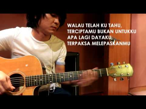Fatin Husna Terlepas Cinta - Acoustic guitar jamming (with lyric)