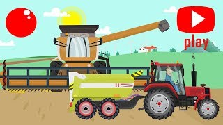 Cartoons about Tractors and Excavators and Construction Vehicles for Kids | Bajki Koparki