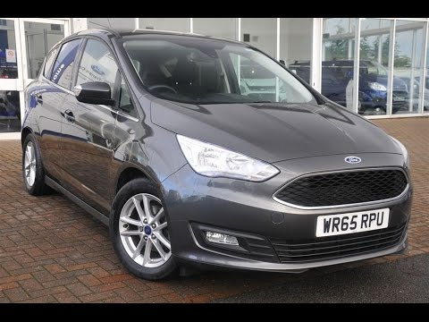 Used Ford C-Max 1.6 125 Zetec 5dr Magnetic Grey 2015 - YouTube