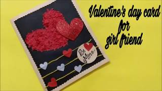 Valentines day card for girlfriend | complete tutorial