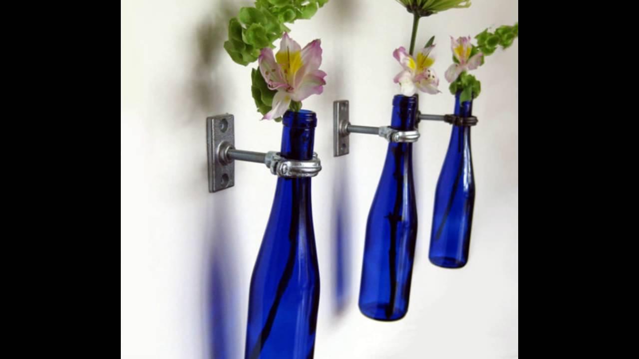 Glass bottle wall vase youtube glass bottle wall vase reviewsmspy
