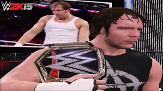 WWE 2K15 PC Mod: Dean Ambrose with his 2015 Hairstyle, Titantron and New WWE World Title!