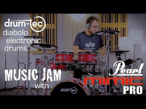 Pearl Mimic Pro & drum-tec diabolo electronic drums MUSIC JAM