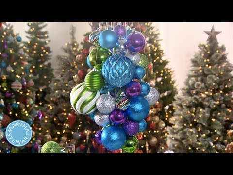 Create a modern holiday chandelier martha stewart youtube create a modern holiday chandelier martha stewart aloadofball Gallery
