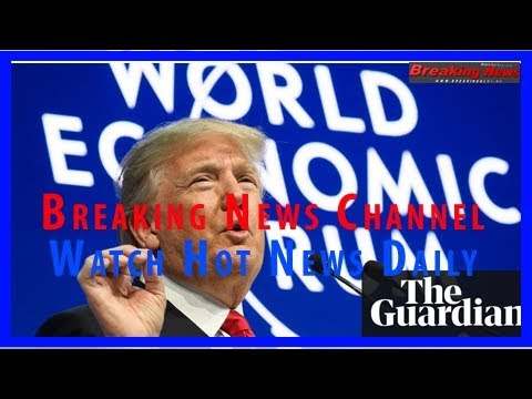 Donald trump woos business but attacks media at davos