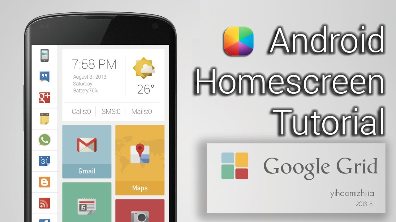 Google Grid - Android Homescreen Tutorial - YouTube