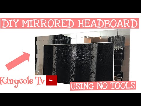 diy-mirrored-upholstered-headboard-using-no-tools