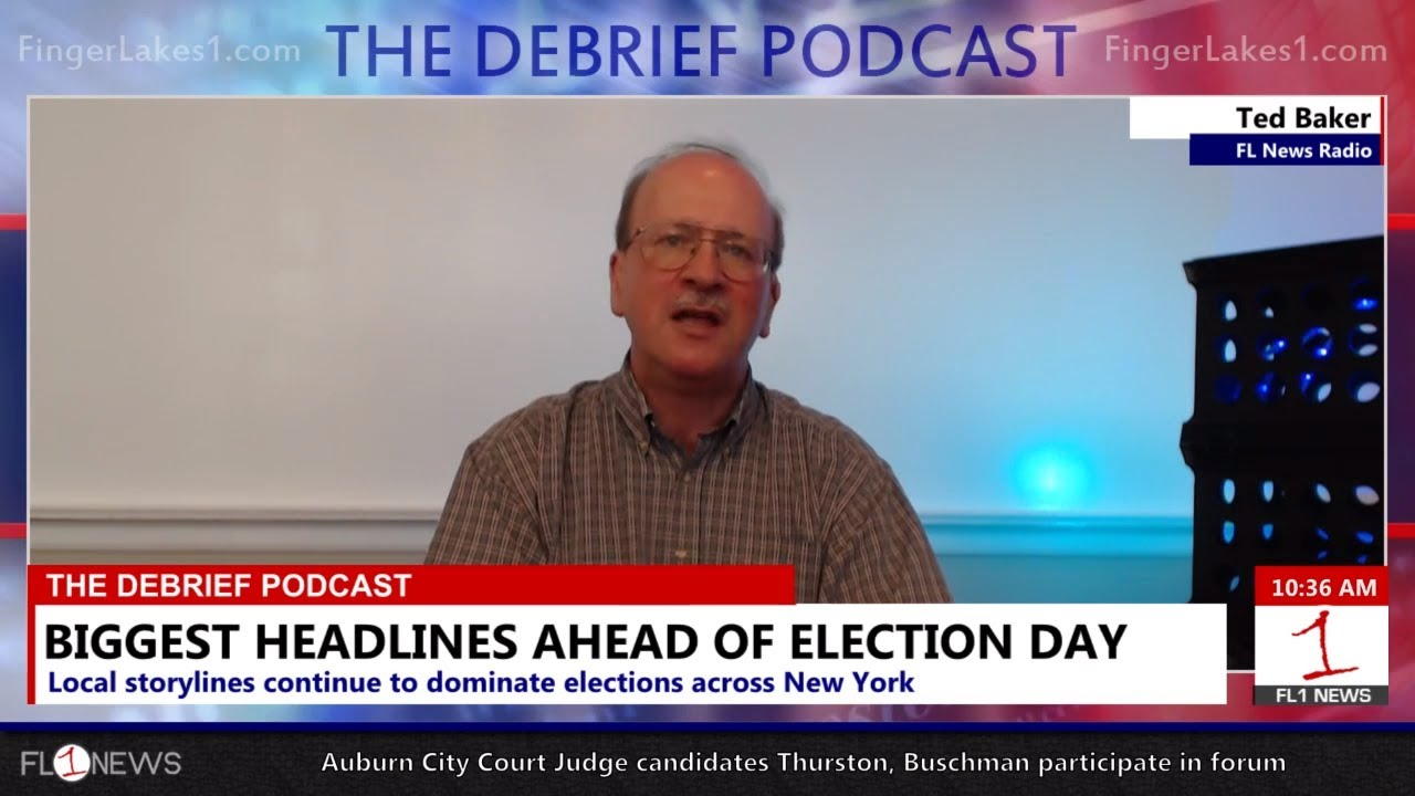 WATCH LIVE AT 10 AM: Ted Baker in-studio to talk election news on Debrief Pod