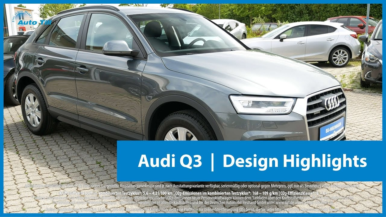 audi q3 monsungrau metallic design highlights 4k uhd youtube. Black Bedroom Furniture Sets. Home Design Ideas