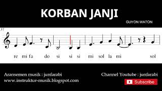 Chords For Korban Janji Guyon Waton Not Pianika Not Balok Doremi Solmisasi
