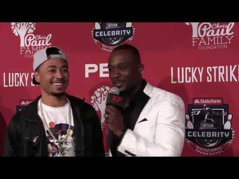 Mookie Betts on the Red Carpet at 2017 CP3 Invitational