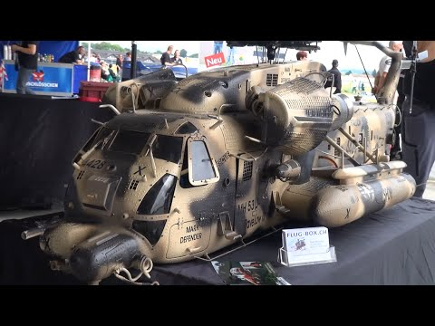 Huge R/C Scale Helicopter Sikorsky MH-53 Pave Low III Army Design