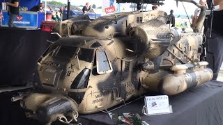 Repeat youtube video Huge R/C Scale Helicopter Sikorsky MH-53 Pave Low III Army Design
