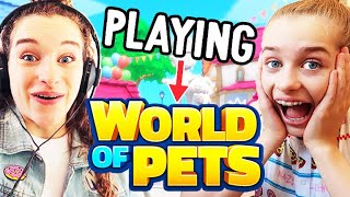 FIRST TIME PLAYING WORLD OF PETS (our game) w/ The Norris Nuts