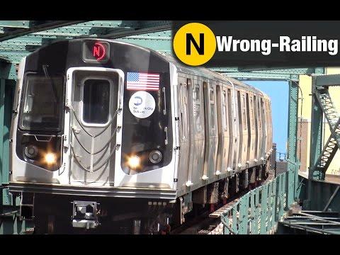⁴ᴷ N Trains wrong-railing through Queensboro Plaza