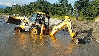JCB Dozer Amazing Work on Sandy River - JCB Dozer Making Dam in River