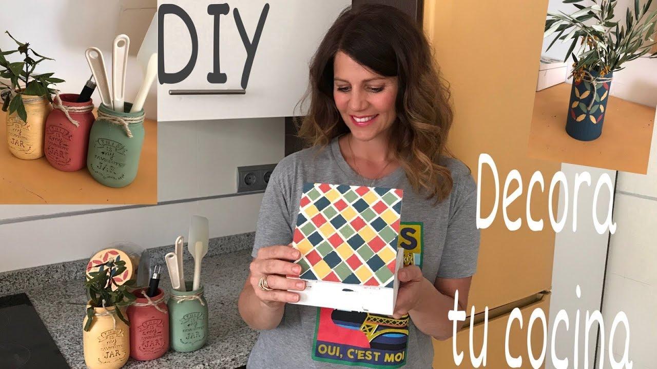Diy Como Decora La Cocina Facil Tips Decoracion Youtube