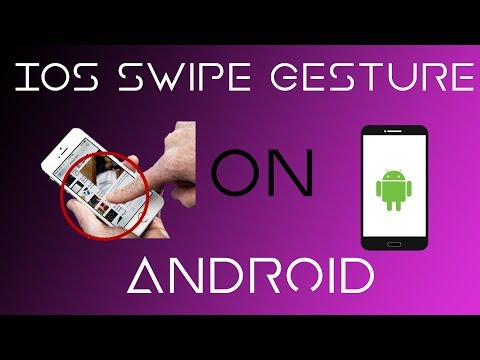 How To Get IOS SWIPE TO GO BACK FEATURE On ANY Android Device (Edge Gestures App Review)